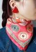 Hermes neon color mini scarf