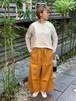 WOMENS:LILOU+LILY【リルアンドリリー】DENIM LIKE STRETCH TWILL ワイドストレートパンツ(イエロー/ワンサイズ展開38のみ)