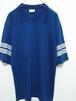 1980's Mac Gregor 袖2ライン無地フットボールTシャツ USA製 ネイビー 表記(XL) マクレガー