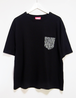 Remake pocket print T-shirt