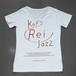 key Rei jazz T-shirts 半袖 白×レッド箔