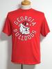 """1980's LOGO7 """"GEORGIA BULLDOGS""""カレッジプリントTシャツ USA製 赤 表記(L) ジョージアブルドッグス"""