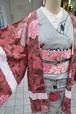 ろうけつ染め絞り☆スモーキーピンクのカスタム羽織