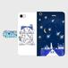 iPhone7 星の花降る夜に 手帳型スマホケース