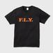 F.L.Y. V-Neck T (黒×オレンジ)