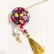 Aタイプ【和装に】紫の和柄ぼんぼりが美しい髪飾り(かんざし) お祭り・花火の浴衣、結婚式・成人式などの和装シーンに