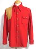 1970's~初期 CHAPS by Ralph Lauren ウール×ディアスキンハンティングシャツ 赤 実寸(M) ラルフローレン