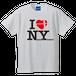 I LOVE NY  七隈四角Tシャツ(ホワイト)