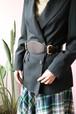 DKNY black wide belt