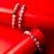 愛と美の象徴 ストロベリークオーツ 大人かわいい★  「結」 天然石 ブレスレット 手作りキット