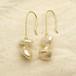 希少なバロック真珠(Freshwater pearls)ピアス OPi-042