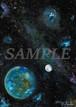 オリジナル絵画(アクリル画)「Earth(2020)」デジタルデータ【イラスト素材/宇宙・星・星雲・絵画・アート】