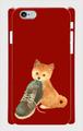 側表面印刷スマホケース*iphone・Android*柴犬*犬と足跡*カラーバリエーション《いたずら》