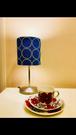 Lamp 照明(Denmark kvadrtat社 皆川明さんデザイン生地)シルバー土台