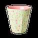 *新作【rice】メラミンカップ 小花 グリーン