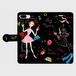きせかえgirl黒 手帳型(大) スマホケース・受注生産¥3900