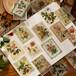 シール  お花の切手 レトロポスター 60枚入り