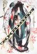 B6支配人【根本敬B6ドローイング&コラージュ】清山飯坂温泉芸術祭シリーズ①