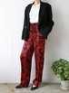 red × black easy pants
