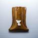 チワワがワンポイントの陶器のペンスタンド