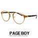 ダテ眼鏡 ボストン型 py6473-1 UVカット ラウンド型 丸メガネ 丸眼鏡 メンズ レディース