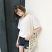 今季のおすすめアイテム☆ミディアム 半袖 クルーネック トップス Tシャツ・カットソー・タンク 春夏
