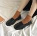 レディース ローファー フロントゴア 革靴 スクエアトゥ ローヒール 厚底 合皮 革 黒 ブラック 茶 ブラウン 履きやすい 春秋 通勤 通学 学生 韓国