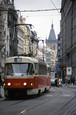 チェコ プラハ市内のトラム