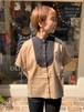 WOMENS:LUEUF【ルフ】遠州灘リネンクレリックシャツ(ベージュ/FREEサイズ)