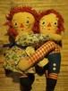 1970s RAGGEDY ANN & ANDY Hugging doll