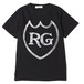LABEL TEE - STONE WASH (BLACK) / RUDE GALLERY