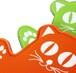 新色入荷【オレンジ】伸びの~び素材のネコちゃん鍋つかみ