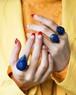 Lapis lazuli drop silver ring (A.B)