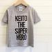 Name & Catchphrase/グレー - ネームオーダーTシャツ