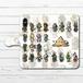 #064-003 手帳型iPhoneケース 手帳型スマホケース 全機種対応 iPhoneX エジプト神話 かわいい Xperia iPhone5/6/6s/7/8 ARROWS AQUOS 動物 メジェド Galaxy HUAWEI Zenfone タイトル:ケモエジプト パターン2 作:Rii2