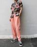high waist pink pants