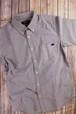 トラクター刺繍入り 半袖ボタンダウンシャツ グレー
