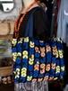 アフリカンショッピングバッグ_Orange×Blue