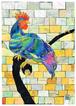 2012年「碧い鶏」絵はがき