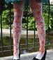 Les Queues de Sardines シェルブールの雨傘 タイツ Mme Emery ピンク/オレンジ