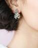 Ladybug silver earrings
