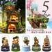 ミニチュア ジオラマ オルゴール キット ドールハウス スノードーム 箱庭 DIYキット クリスマス プレゼント 980604