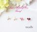 (アクアマリン・Bムーン・トルマリン・ガーネット)BirthdayStone&Parlトラカフ/ノンホールピアス