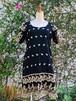 イギリス ブラックミニドレス ブラック ミニドレス ドレス 刺繍入り