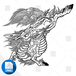 【png画像素材】麒麟 Mサイズ  横1500px × 縦1435px