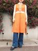 Vintage orange sleeveless dress