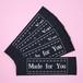 幅広織ネーム「Made for You」グレー/黒地(5枚)