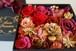アニバーサリー S ベリーブラック ボックスフラワー(Box Flower Berry Black S/Gold Rose)