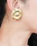 dead stock gold earrings