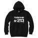 TSUBOMIN / No213 HOODED SWEATSHIRT BLACK